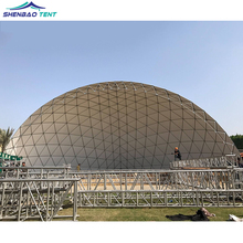 Outdoor Half Geodesic Steel Outdoor Large Dome Tent For Events