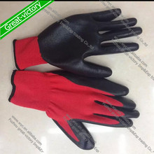 13G nylon nitrile gloves, nitrile coated glove