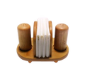 Natural Bamboo Tissue Holder With Spice Shakers