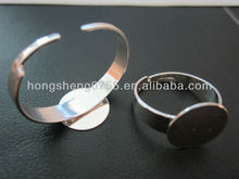 manufacturing brass adjustable plain ring /adjustable vibrating ring