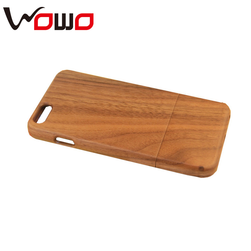 Mobile accessories laser engraving custom design wooden cell phone case for iphone 6 case wood factory price