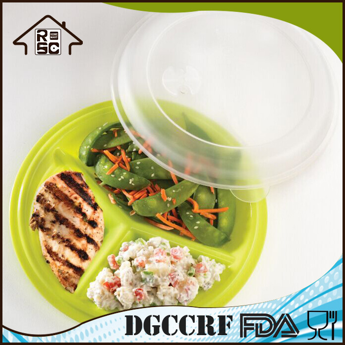 3 section meal prep divided plates compartment plastic microwave safe portion control plates. Black Bedroom Furniture Sets. Home Design Ideas