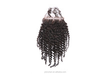 High Quality Natural color Indian Hair Lace Front Closures kinky curly In Stock