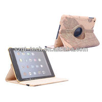 For apple iPad Mini Map rotation case with stand