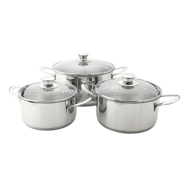 Capsulated bottom Stainless steel oval casserole ,stockpot removable handle cookware set