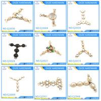 Metal shoe decoration buckles with shiny rhinestone for women sandal ornament decoration buckles