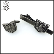 Wholesale Souvenir Brass Cufflink And Tie Pin Set