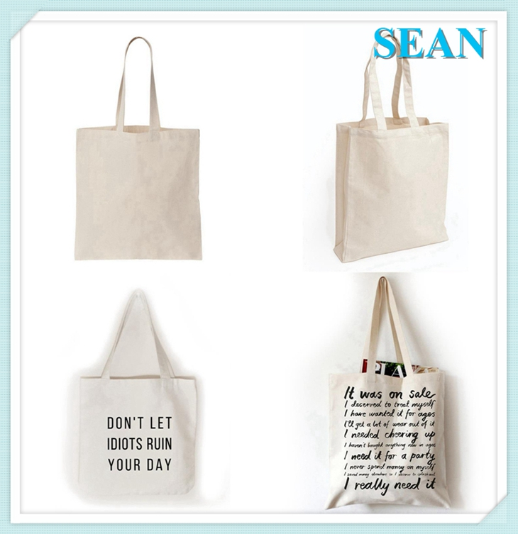 Cheap Promotional Custom Cotton Bag With Zipper Closure Canvas Tote Bag
