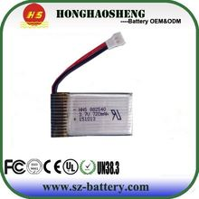 882540 3.7v 720mah rechargeable lipo rc battery syma x5c drone 25c battery for toys,helicopter