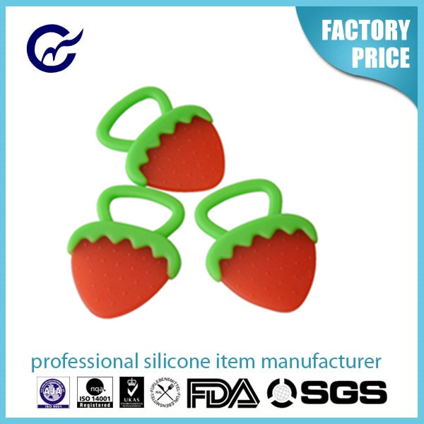 Lovely Fruit Shape Safety Baby Teether Rear Molar Teeth Stick Toy