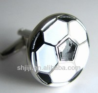 Enamel Sports Soccer Cufflinks
