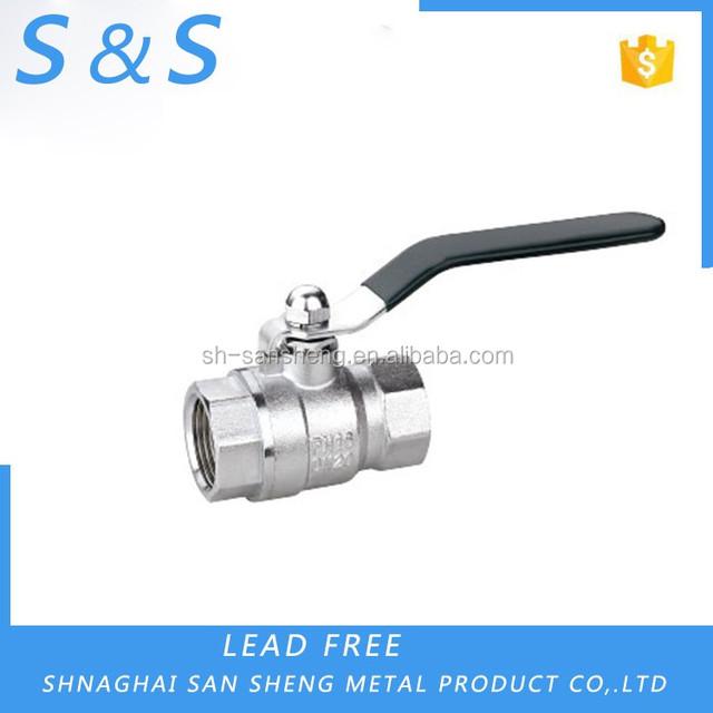 nickel plating heavy duty model Brass ball valve ISO for multifunctional use