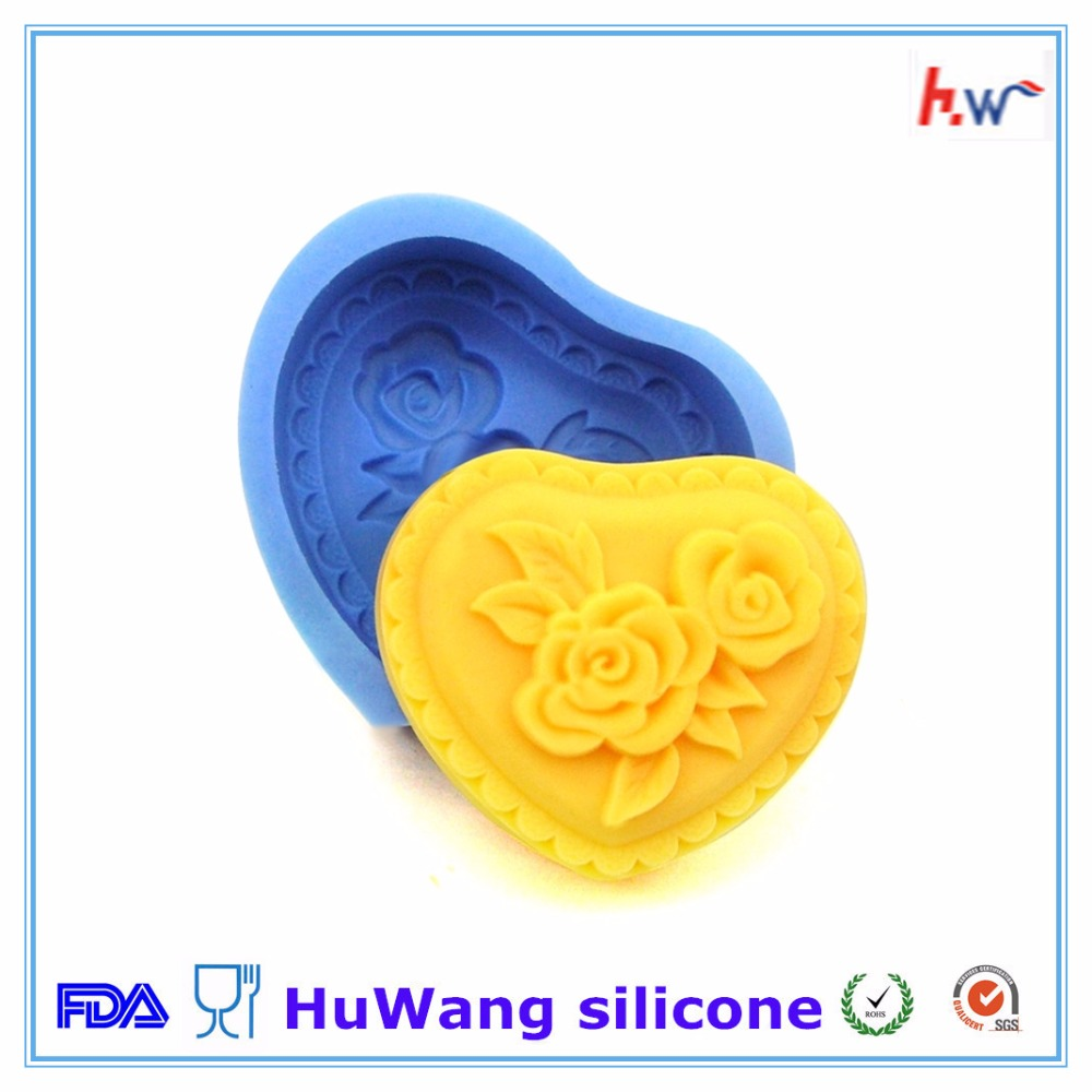 Plain Basic Rectangle Soap Mold Silicone Mould for Homemade Craft