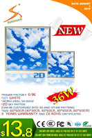 Sunlamps new decorative model led blue sky ceiling light 36w led sky panel lamp 600*600mm CE RoHS EMC