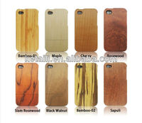 Factory Wholesale case mobile wood mobile phone holder for iphone 5/6 walnut wood for iphone 4 case