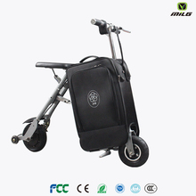 Electric scooter with bag Skateboard Carry On Suitcase/electric skateboard with travelling soft luggage