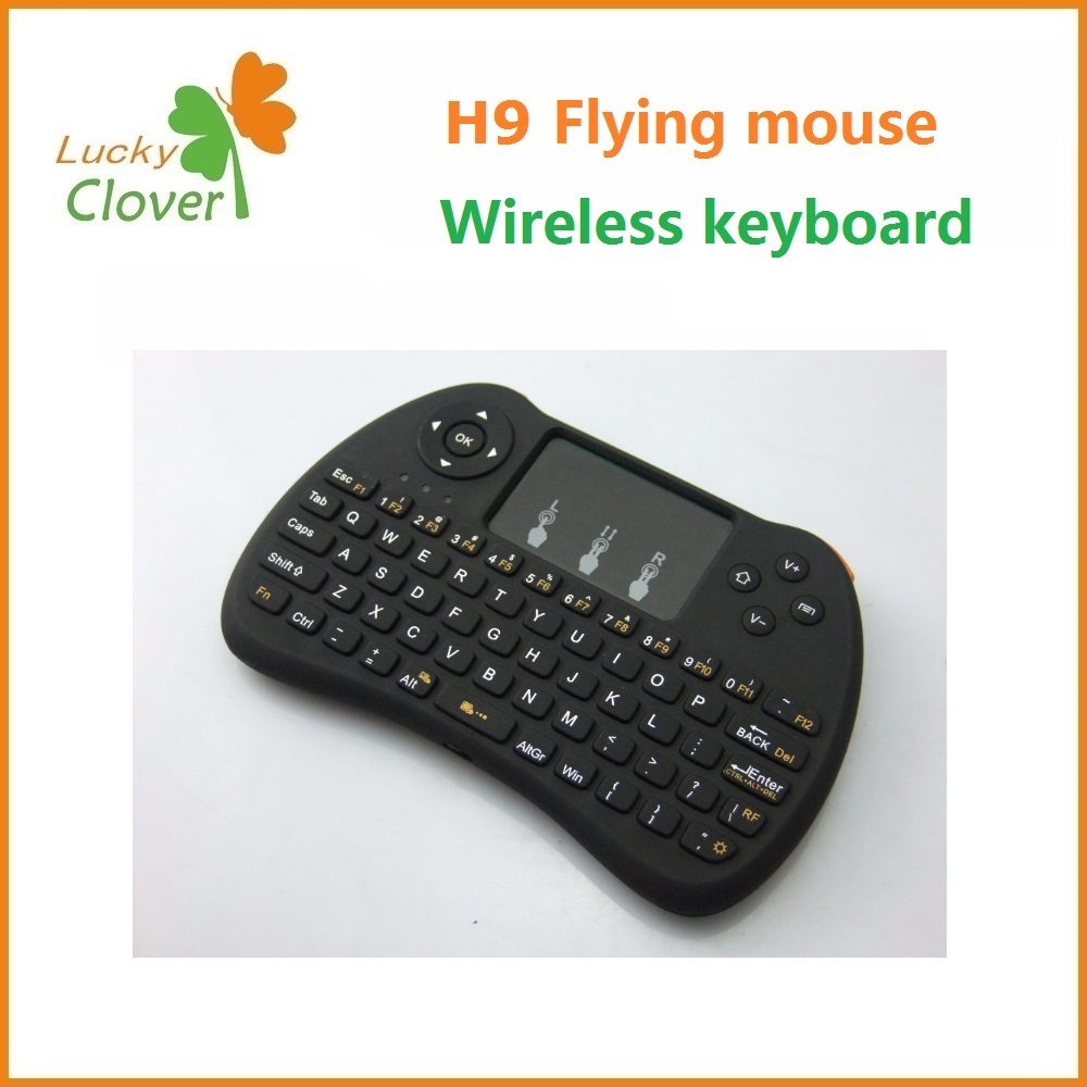 Newest Fashion H9 TV remote control new 2.4G wireless mini keyboard and Fly mouse Touchpad for PC Android TV