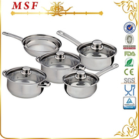 9pcs steel handle United kingdom stainless steel cookware kitchen accessories
