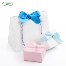 Custom Square Small Matte Hardcover Carton Paper Ring/Jewellery Gift Box/Triangle Bag