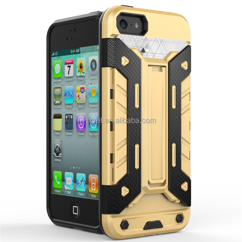 TPU PC 2 in 1 shockproof protective phone case for Apple iphone 5 case cover