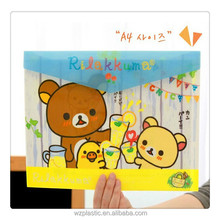 customized lovely cartoon PP file decoration with school file