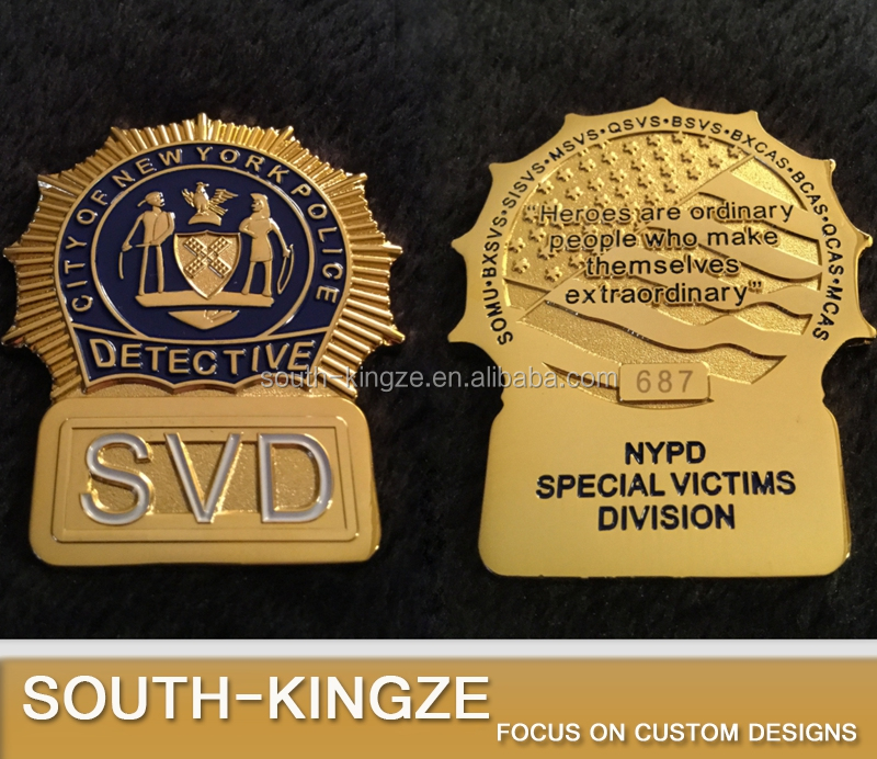 Distinctive design American Honor NYPD challenge coin police with serial number
