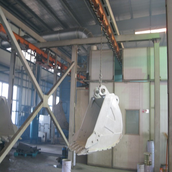 Powder coating system for truck