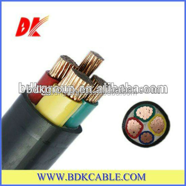 Low voltage PVC insulation and sheath electric power cable