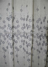 100% polyester embroidery fabric curtain fancy model