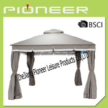 Steel Frame gazebo with polyester for cover and sidewall