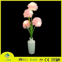 2014 pink party home decorative led light flower pot