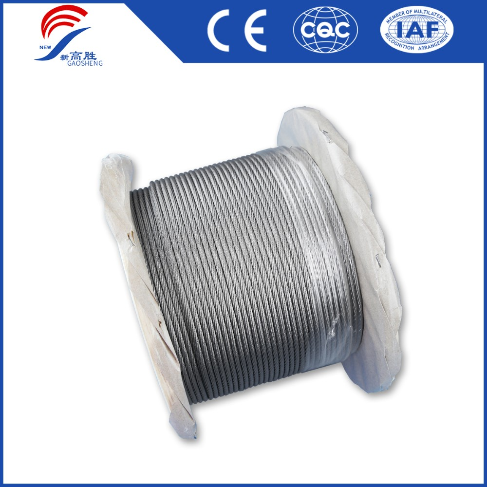 Spring Steel Wire Ropes Used High Carbon Zinc Coated Galvanized Steel Cable Wire