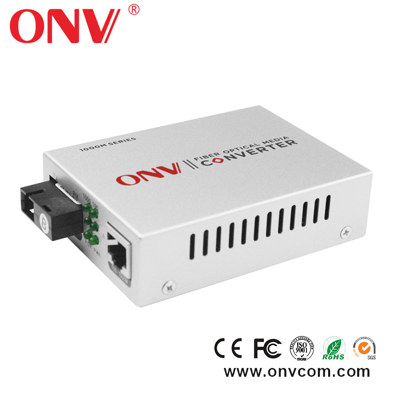 Wall Mountable 9-48VDC Multi Mode RS232 RS485 RS422 to Optical Fiber Media Converter