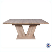 Modern design extendable MDF Wooden retractable dining table