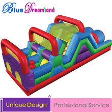 Giant high quality PVC Outdoor Inflatable slide bouncer Jurassic Park inflatable playground inflatable obstacle course