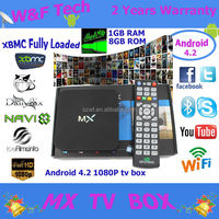 Hot quad core amlogic 8726 mx android tv box mx android 4.2 xbmc streaming box