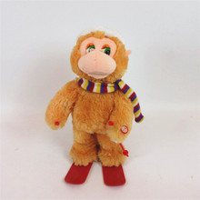 Christmas electronic plush stuffed animal monkey toy for sale