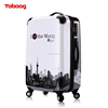 2017 Classic Design Stronge and Durable Aluminum Trolley Luggage Sets, Zipper Frame Suitcase With Spinner Hardcase