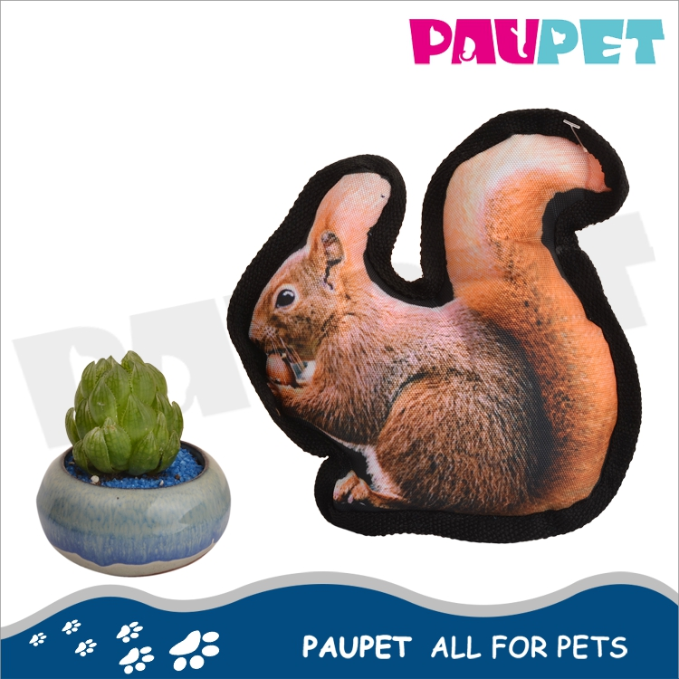 Wholesale cheap photo real print 3D print Oxford pet dog pet toy squirrel