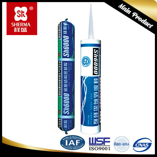 anti-fungus silicone sealant for adhesion of plastic, glass, metal and concrete
