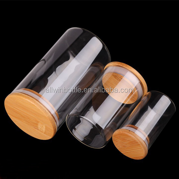 High Quality Vacuum Seal Glass Jars With Wooden Top