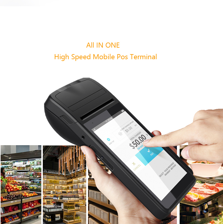 5.5inch 3G 4G Mobile Handheld Android Pos With Printer