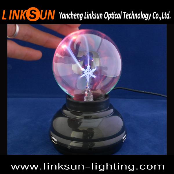 Fantasy Magic USB Plasma Ball 3 Inch Glass Plasma Light with crystal table lamp for decoration