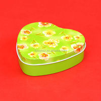 happy wedding heart candy tin box for guests return gifts