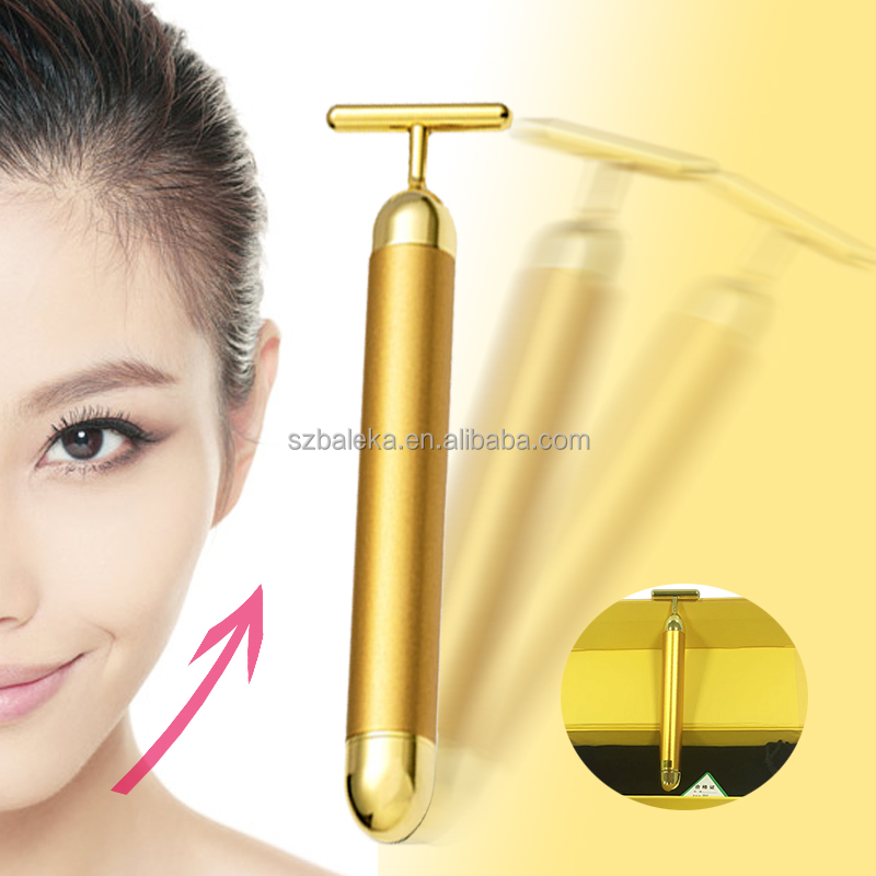 Beauty Bar 24k Golden Pulse Facial Massager breast vibrator