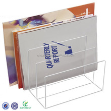 Acrylic desktop letter holder organizer