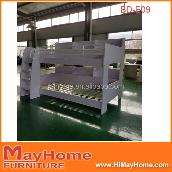 School furniture supplier wholesale indian pine wood double decker bed design