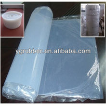 Heat resistant transparent silicone rubber sheet
