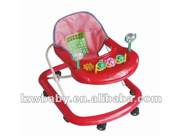 baby carriage with 8 colourful wheels going any directions