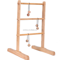 Premium Wooden Ladderball Golf Game Set